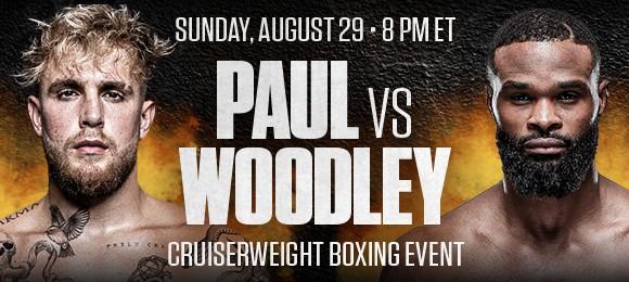BOXING: JAKE PAUL VS. TYRON WOODLEY
